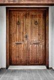 Vecchia porta di legno rustica Fotografie Stock Libere da Diritti