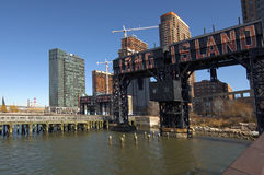 Vecchia porta di traghetto nel Long Island Fotografia Stock Libera da Diritti
