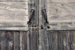Vecchia porta e vecchia struttura di legno Fotografia Stock