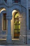 Vecchia porta forgiata del ferro Fotografie Stock