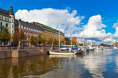Vecchia porta a Helsinki, Finlandia Fotografie Stock