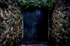 Vecchia porta misteriosa Fotografie Stock