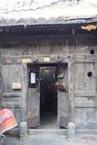 Vecchia porta nei hutongs Fotografia Stock