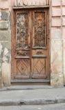 Vecchia porta nel quarto ebreo Fotografie Stock Libere da Diritti