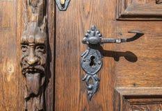 Vecchia porta a Praga Fotografie Stock
