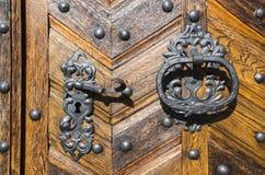 Vecchia porta a Praga Immagini Stock