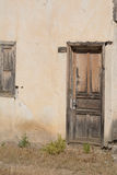 Vecchia porta turca dell'angolo della casa del villaggio Fotografie Stock Libere da Diritti
