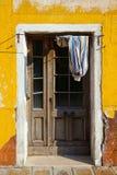 Vecchia porta a Venezia Fotografia Stock Libera da Diritti