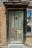 Vecchia porta verde Fotografia Stock Libera da Diritti