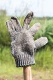 Vecchia post-utilizzazione sporca dei guanti Fotografia Stock Libera da Diritti