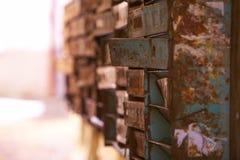 Vecchia posta delle cassette delle lettere Fotografia Stock Libera da Diritti