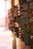 Vecchia posta delle cassette delle lettere Immagine Stock