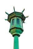 Vecchia posta tradizionale della lampada Fotografie Stock Libere da Diritti