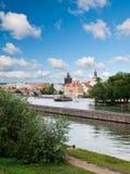 Fiume della Moldava a Praga Immagine Stock