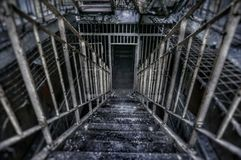 Vecchia prigione spaventosa Fotografia Stock Libera da Diritti