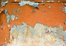 Vecchia priorità bassa arrugginita afflitta del metallo. fotografia stock