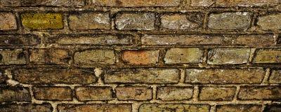 Vecchia priorità bassa del muro di mattoni Backround di marrone scuro Fotografia Stock Libera da Diritti