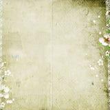 Vecchia priorità bassa di carta con i fiori di melo royalty illustrazione gratis