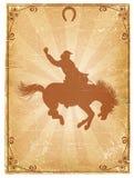Vecchia priorità bassa di carta del cowboy Fotografie Stock Libere da Diritti