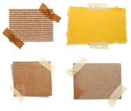 Vecchia priorità bassa di carta della nota del Brown Fotografie Stock Libere da Diritti