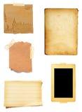 Vecchia priorità bassa di carta della nota del Brown Immagine Stock Libera da Diritti