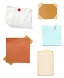 Vecchia priorità bassa di carta della nota del Brown Fotografie Stock