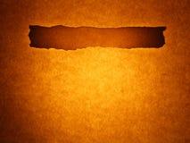 Vecchia priorità bassa di carta - riga barra (colore marrone dorato) Fotografia Stock