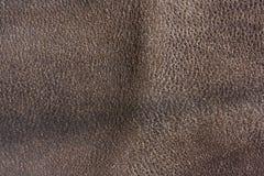 Vecchia priorità bassa di cuoio marrone di struttura Fotografie Stock