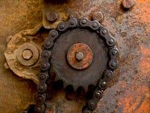 Vecchia priorità bassa di industria della macchina Immagine Stock Libera da Diritti
