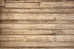 Vecchia priorità bassa di legno con le schede orizzontali Fotografie Stock Libere da Diritti