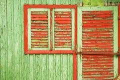 Vecchia priorità bassa di legno della casa Immagini Stock