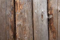 Vecchia priorità bassa di legno della rete fissa Fotografia Stock Libera da Diritti