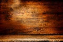 Vecchia priorità bassa di legno di Grunge della scheda dell'oggetto d'antiquariato e della plancia Fotografia Stock Libera da Diritti