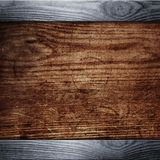 Vecchia priorità bassa di legno nera Fotografie Stock