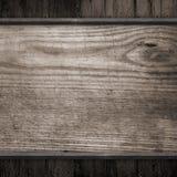 Vecchia priorità bassa di legno nera Fotografia Stock