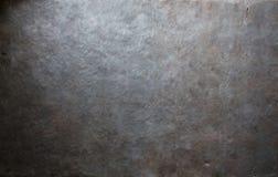 Vecchia priorità bassa di piastra metallica Fotografia Stock