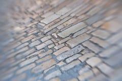 Vecchia priorità bassa di pietra della pavimentazione immagine stock