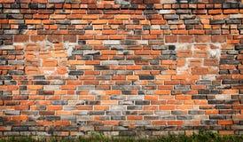 Vecchia priorità bassa rossa del muro di mattoni fotografia stock