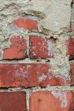 Vecchia priorità bassa rossa del muro di mattoni fotografia stock libera da diritti