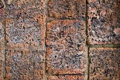 Vecchia priorità bassa rossa di struttura del muro di mattoni Fotografie Stock Libere da Diritti