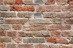 Vecchia priorità bassa rossa di struttura del muro di mattoni fotografia stock
