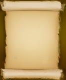 Vecchia priorità bassa rotolata della carta pergamena Immagini Stock