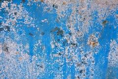 Vecchia priorità bassa verniciata blu della parete Fotografia Stock Libera da Diritti