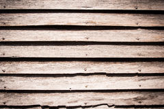 Vecchia priorità bassa di legno con le schede orizzontali Immagini Stock