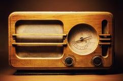 Vecchia progettazione radiofonica di legno Immagine Stock Libera da Diritti
