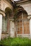 Vecchia proprietà terriera abbandonata Fotografie Stock