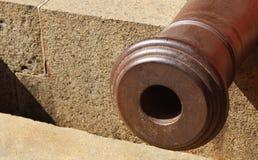 Vecchia punta del cannone Fotografie Stock