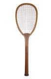 Vecchia racchetta di tennis di legno Immagine Stock Libera da Diritti