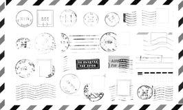Timbri di gomma sulla busta Fotografie Stock