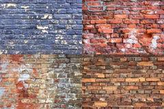 Vecchia raccolta incrinata di struttura del muro di mattoni Immagine Stock Libera da Diritti